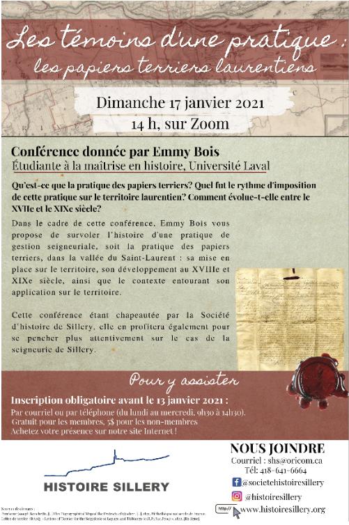 Affiche optimisée de la conférence d'Emmy Bois