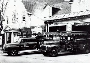 Camion de pompiers de Sillery à la caserne
