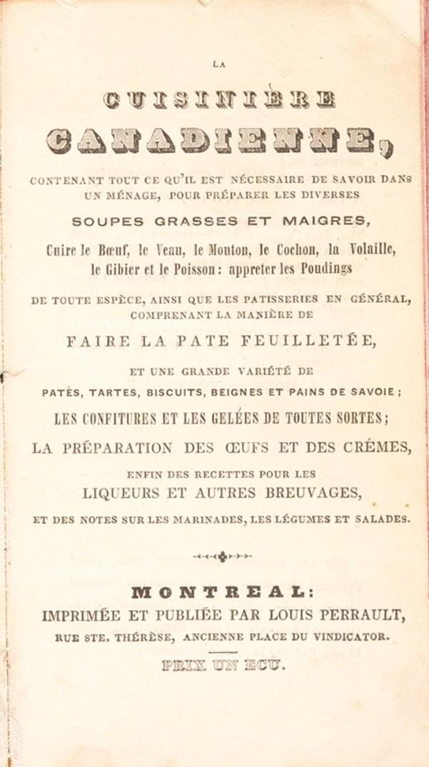 Couverture du livre La cuisinière canadienne